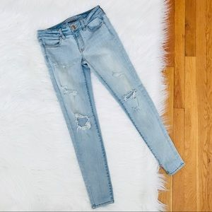 American Eagle   Distressed Jegging Skinny Jeans
